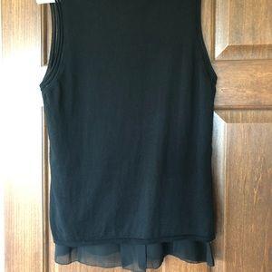 White House Black Market Tops - WHBM sweater shell with chiffon hem